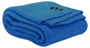 Yoga deken 140 x 200 cm blauw